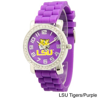 Olivia Pratt Women's Officially Licensed College Sports Rhinestone Silicone Watch (2 options available)