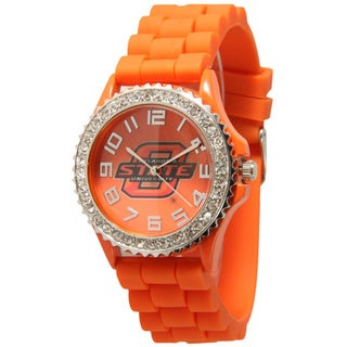 Olivia Pratt Women's Officially Licensed College Sports Rhinestone Silicone Watch