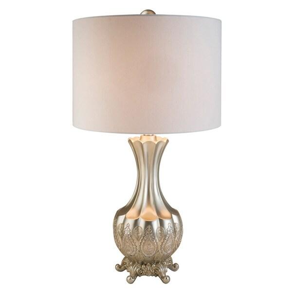 Royal Silver Mosaic Polyresin Table Lamp