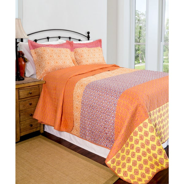 Slumber Shop Reversible Escapade 3-piece Quilt Set