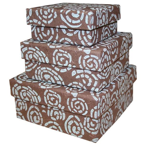 Handmade Whirlpool Nesting Boxes India Blue