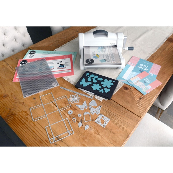 sizzix big shot plus die cutting machine starter kit. Black Bedroom Furniture Sets. Home Design Ideas