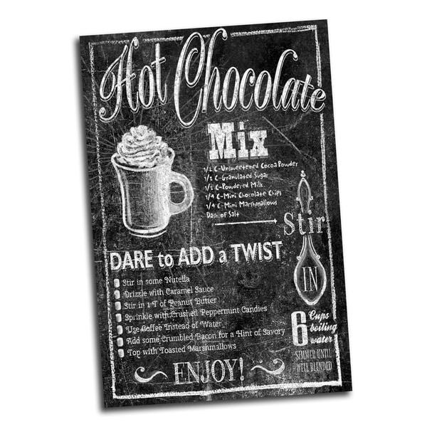 Portfolio Canvas Decor 'Chalk Hot Chocolate' IHD Studio 24-inch x 36-inch Wrapped Canvas Wall Art