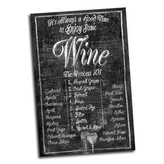 Portfolio Canvas Decor 'Chalk Time for Wine' IHD Studio 24-inch x 36-inch Wrapped Canvas Wall Art