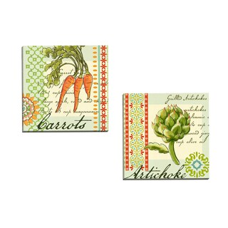 Portfolio Canvas Decor 'Garden Veg Artichoke' Jennifer Brinley 16-inch x 16-inch Wrapped Canvas Wall