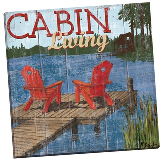 Portfolio Canvas Decor 'Lake Living I.png - Shortcut' Paul Brent 24-inch x 24-inch Wrapped Canvas Wall Art