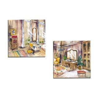Portfolio Canvas Decor 'Luxe Bath Square I' Ruth Bush 16-inch x 16-inch Wrapped Canvas Wall Art