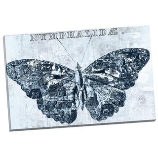 Portfolio Canvas Decor 'Map Butterfly Blue 1' IHD Studio 24-inch x 36-inch Wrapped Canvas Wall Art