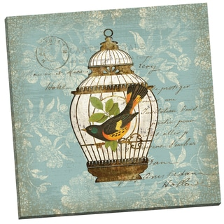 Portfolio Canvas Decor 'Aviary 2' Suzanne Nicoll 24-inch x 24-inch Wrapped Canvas Wall Art