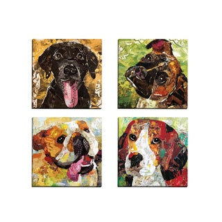 Portfolio Canvas Decor 'Art Dog Beagle' Sandy Doonan 12-inch x 12-inch Wrapped Canvas Wall Art