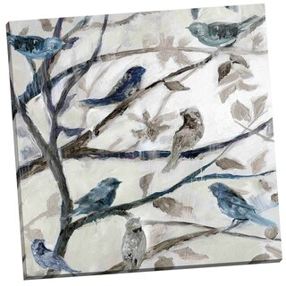 Portfolio Canvas Decor 'Morning Song I' Nan 24-inch x 24-inch Wrapped Canvas Wall Art