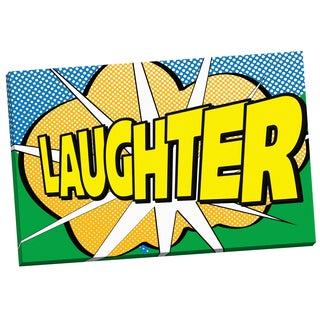 Portfolio Canvas Decor 'Pop Laughter 2' IHD Studio 24-inch x 36-inch Wrapped Canvas Wall Art