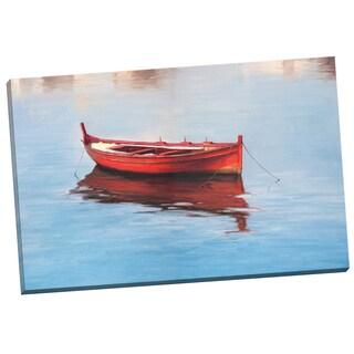 Portfolio Canvas Decor 'Red Boat' Alex Wang 24-inch x 36-inch Wrapped Canvas Wall Art