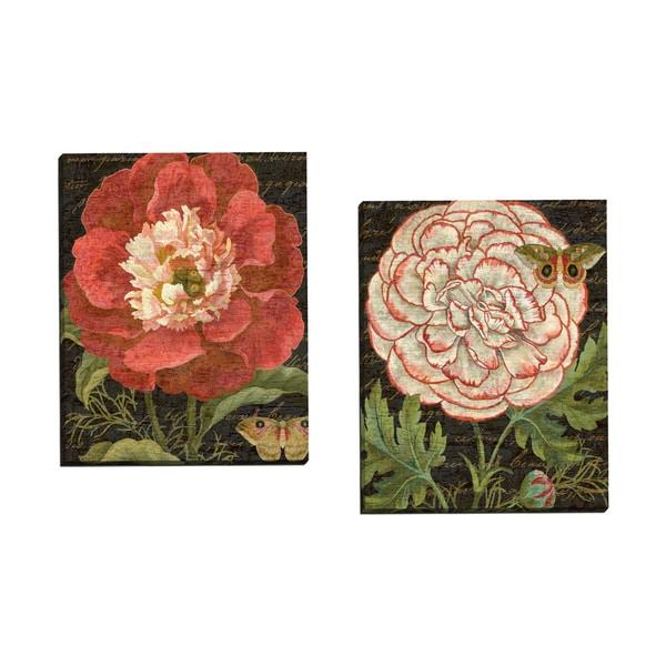 Portfolio Canvas Decor U0026#x27;Red Shabby Chic Florals Black 1 Cropu0026#x27