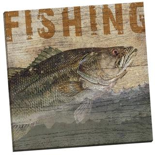 Portfolio Canvas Decor 'Wood Fishing' Beth Albert 24-inch x 24-inch Wrapped Canvas Wall Art