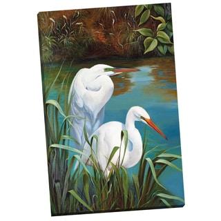 Portfolio Canvas Decor 'Summer Egrets I' P. Charles 24-inch x 36-inch Wrapped Canvas Wall Art