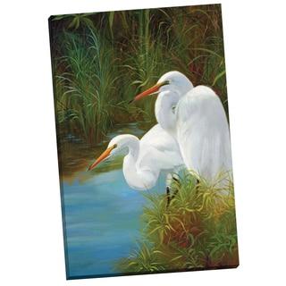 Portfolio Canvas Decor 'Summer Egrets II' P. Charles 24-inch x 36-inch Wrapped Canvas Wall Art