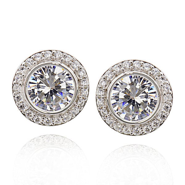 90cbe724b Shop Sterling Silver Round Cubic Zirconia Stud Earrings (China) - On ...