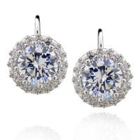 Sterling Silver Round Cubic Zirconia Earrings