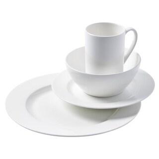 Cascade Round Bone China Dinnerware 16-piece Set