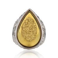 Sterling Silver Pear Druzy Ring (China)