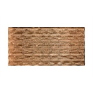 Fasade Dunes Horizontal Polished Copper 4-foot x 8-foot Wall Panel