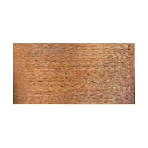 Fasade Ripple Horizontal Antique Bronze 4-foot x 8-foot Wall Panel