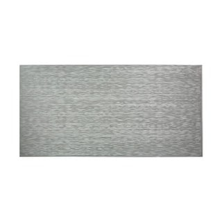 Fasade Ripple Horizontal Argent Silver 4-foot x 8-foot Wall Panel