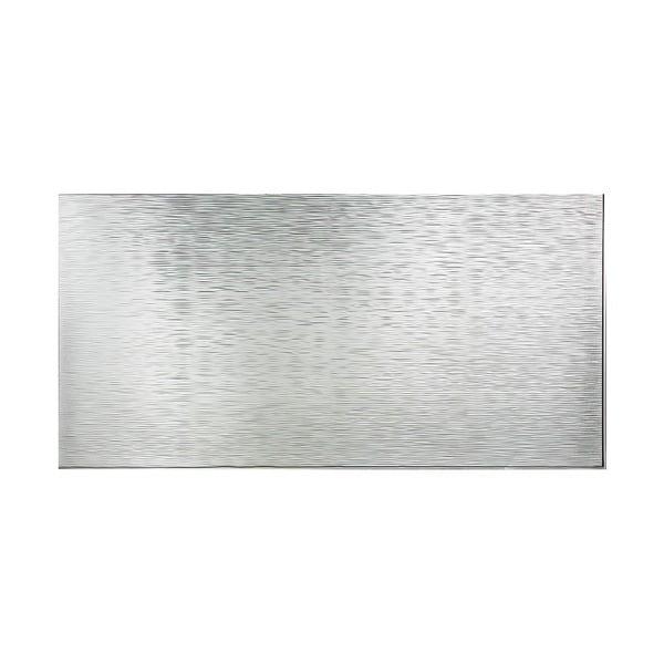 Fasade Ripple Horizontal Brushed Aluminum 4-foot x 8-foot Wall Panel. Opens flyout.