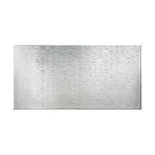 Fasade Ripple Horizontal Brushed Aluminum 4-foot x 8-foot Wall Panel