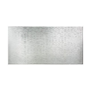 Fasade Ripple Horizontal Brushed Aluminum 4-foot x 8-foot Wall Panel