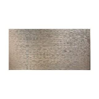 Fasade Ripple Horizontal Brushed Nickel 4-foot x 8-foot Wall Panel