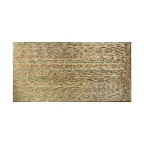 Fasade Ripple Horizontal Copper Fantasy 4-foot x 8-foot Wall Panel