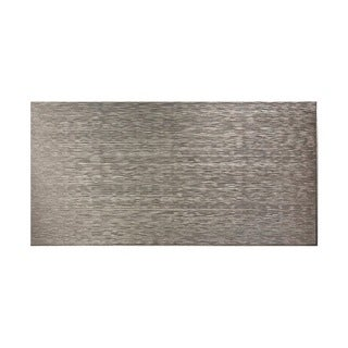 Fasade Ripple Horizontal Galvanized Steel 4-foot x 8-foot Wall Panel
