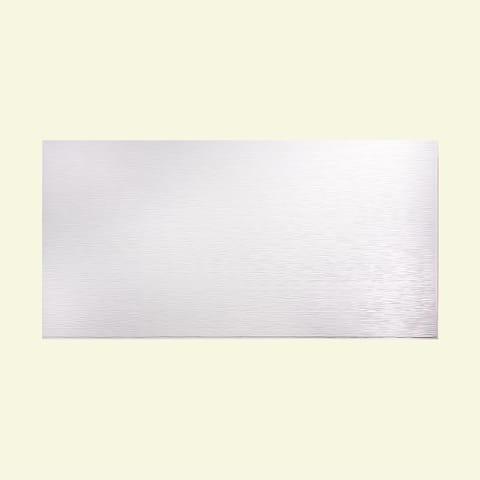 Fasade Ripple Horizontal Gloss White 4-foot x 8-foot Wall Panel