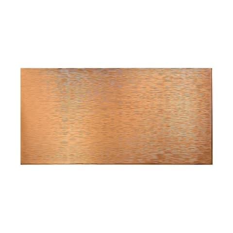 Fasade Ripple Horizontal Polished Copper 4-foot x 8-foot Wall Panel