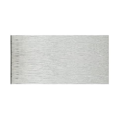 Fasade Waves Horizontal Brushed Aluminum 4-foot x 8-foot Wall Panel