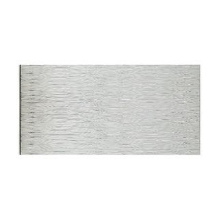 Fasade Waves Horizontal Brushed Aluminum 4-foot x 8-foot Wall Panel