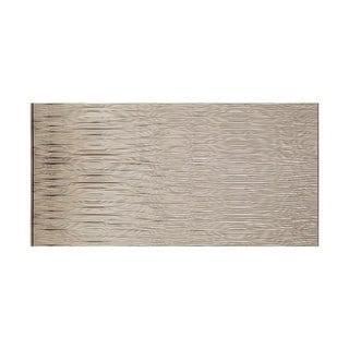 Fasade Waves Horizontal Brushed Nickel 4-foot x 8-foot Wall Panel