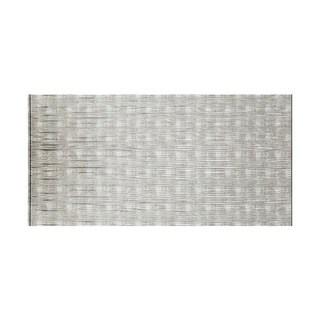 Fasade Waves Horizontal Crosshatch Silver 4-foot x 8-foot Wall Panel