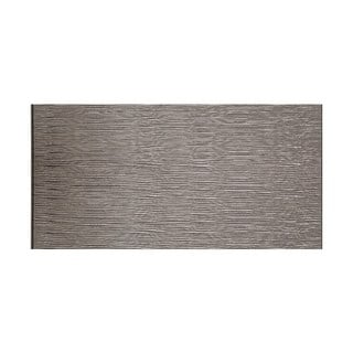 Fasade Waves Horizontal Galvanized Steel 4-foot x 8-foot Wall Panel