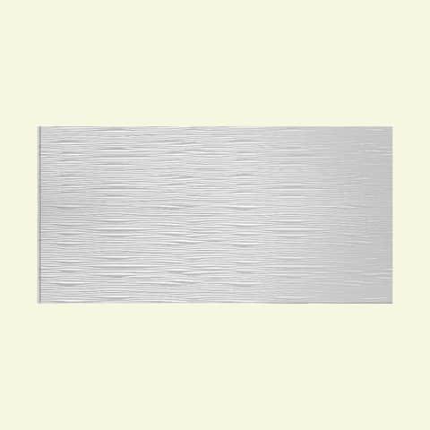 Fasade Waves Horizontal Gloss White 4-foot x 8-foot Wall Panel