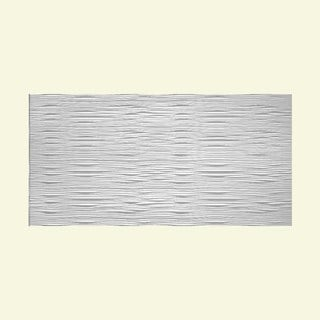 Fasade Waves Horizontal Matte White 4-foot x 8-foot Wall Panel