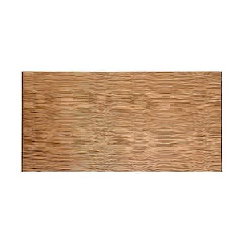Fasade Waves Horizontal Polished Copper 4-foot x 8-foot Wall Panel