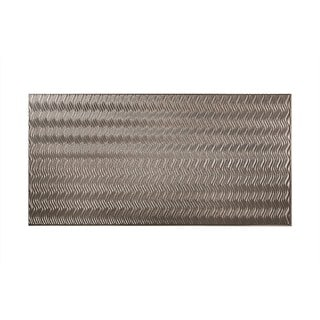 Fasade Current Vertical Galvanized Steel 4-foot x 8-foot Wall Panel