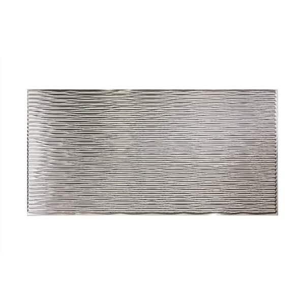 Fasade Dunes Horizontal Brushed Aluminum 4-foot x 8-foot Wall Panel. Opens flyout.