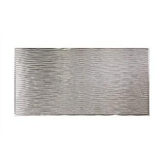 Fasade Dunes Horizontal Brushed Aluminum 4-foot x 8-foot Wall Panel