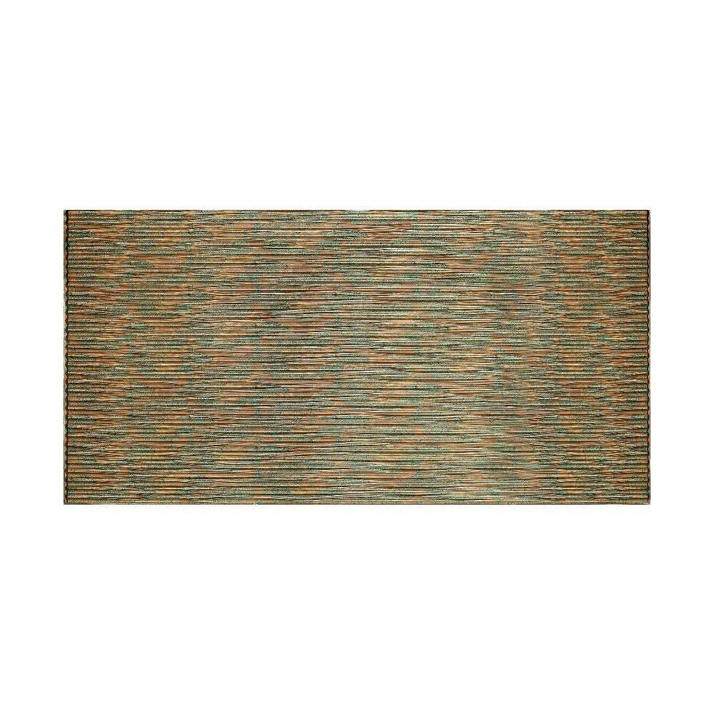 Fasade Dunes Horizontal Copper Fantasy 4-foot x 8-foot Wall Panel (4 x 8)