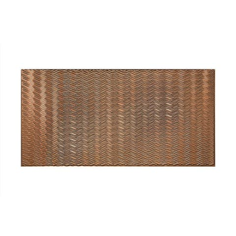 Fasade Current Horizontal Polished Copper 4-foot x 8-foot Wall Panel