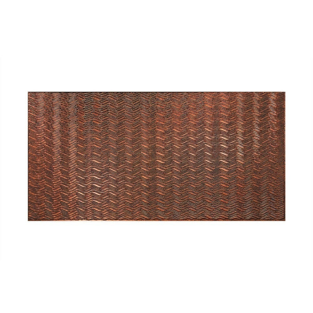 Fasade Current Horizontal Moonstone Copper 4-foot x 8-foot Wall Panel (Sample)